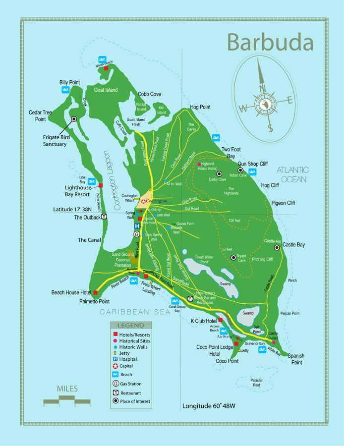 Barbuda-Map