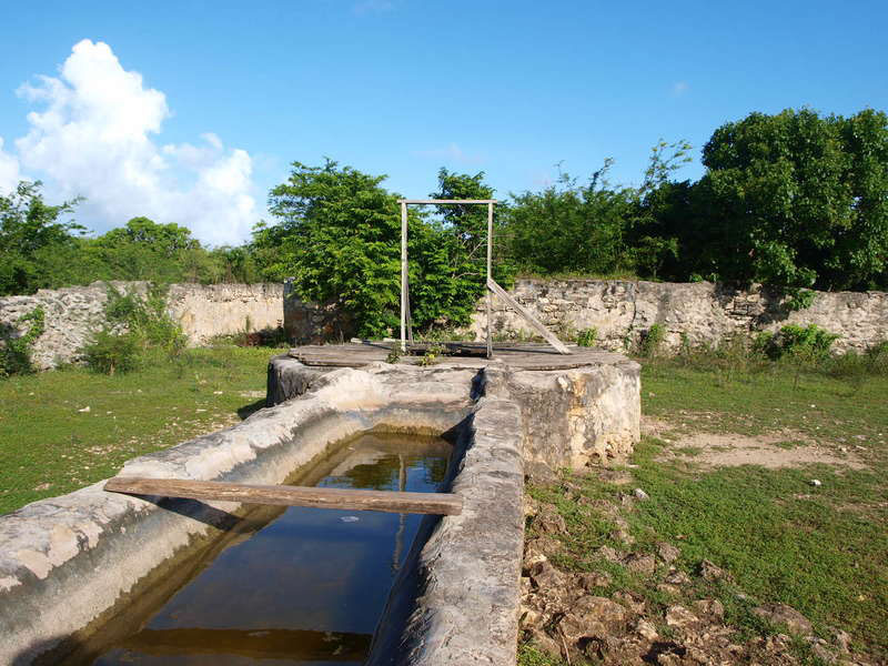 One of the old wells