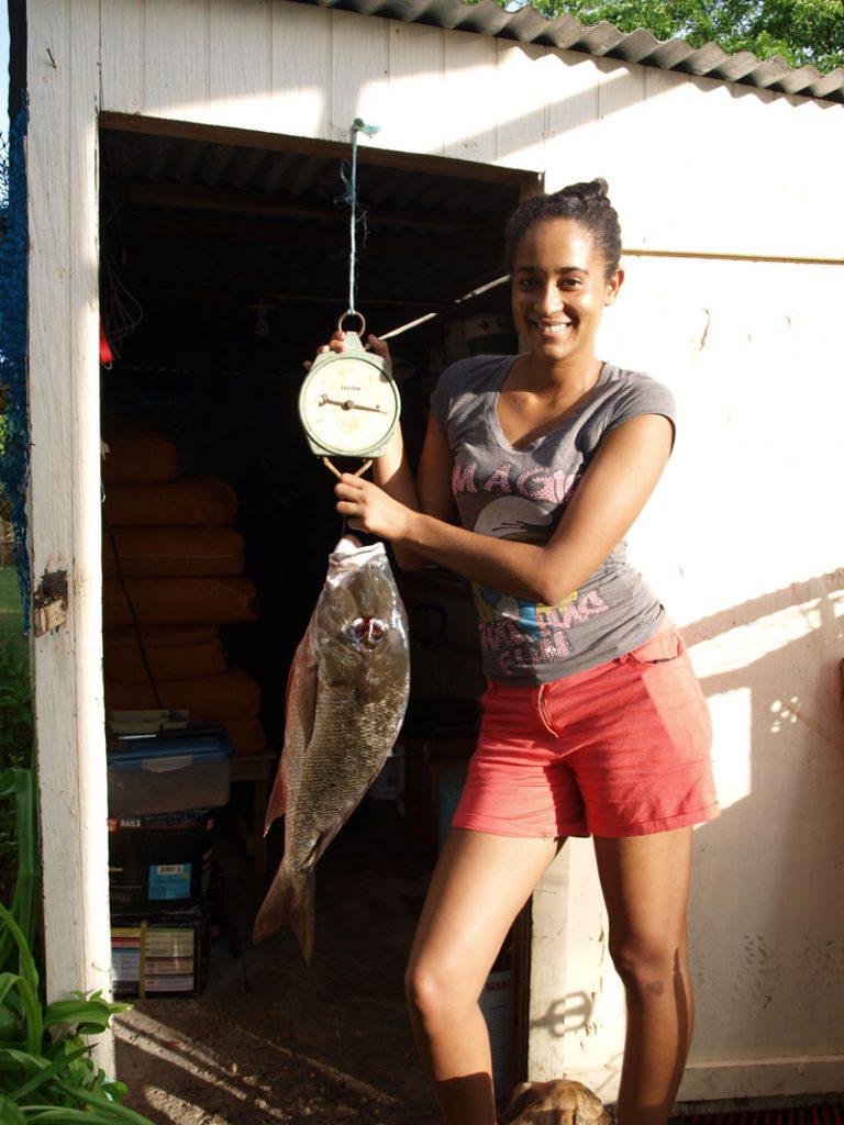 Asha with a big fish