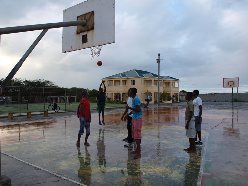 on the basketball court