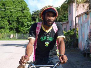 smurf on bike